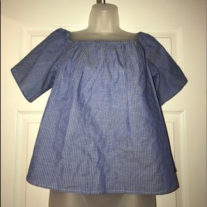 Express size L nwt cotton off the shoulder top